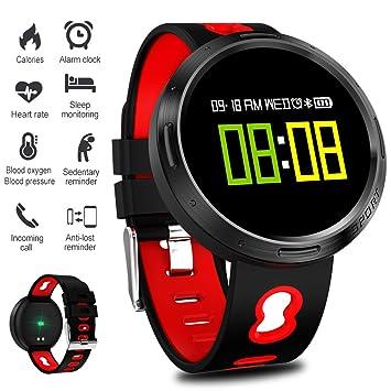 ... Color Relojes de Fitness Monitores de Actividad Podómetro Reloj Inteligente Pulsera Inteligente para Mujeres, Hombres: Amazon.es: Deportes y aire libre