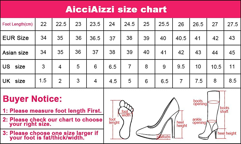 AicciAizzi Women Pointed Toe Bootie Ankle High