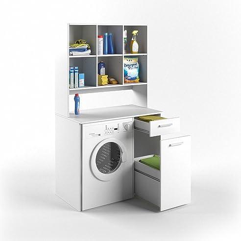 vicco waschmaschinenschrank wei 190 x 64 cm badregal. Black Bedroom Furniture Sets. Home Design Ideas