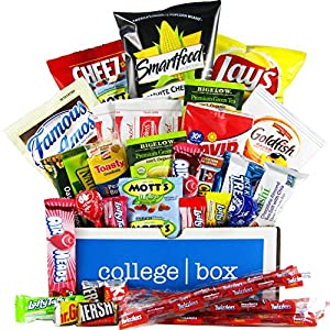 Study Boost Care Package (35 Count) - Chips, Cookies, Candy Assortment Bundle Gift Pack and Variety Box - CollegeBox