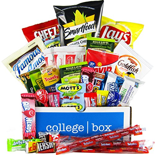 CollegeBox - Study Boost Care Package - Chips, Cookies, Candy Assortment Bundle Gift Pack and Variety Box (35 Count)