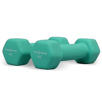 República de fitness – Juego de mancuernas (revestimiento de neopreno 2 kg