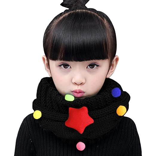Amazon Fashion Kids Winter Warm Infinity Scarf Thick Wool Knit