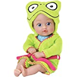 """Adora Bathtime Baby Tot """"Frog"""" Small 8.5 Inch Washable Bathtub Water Safe Soft Body Vinyl Fun Play Toy Doll for, Boy Or Girl Child 1 Year Old and up"""
