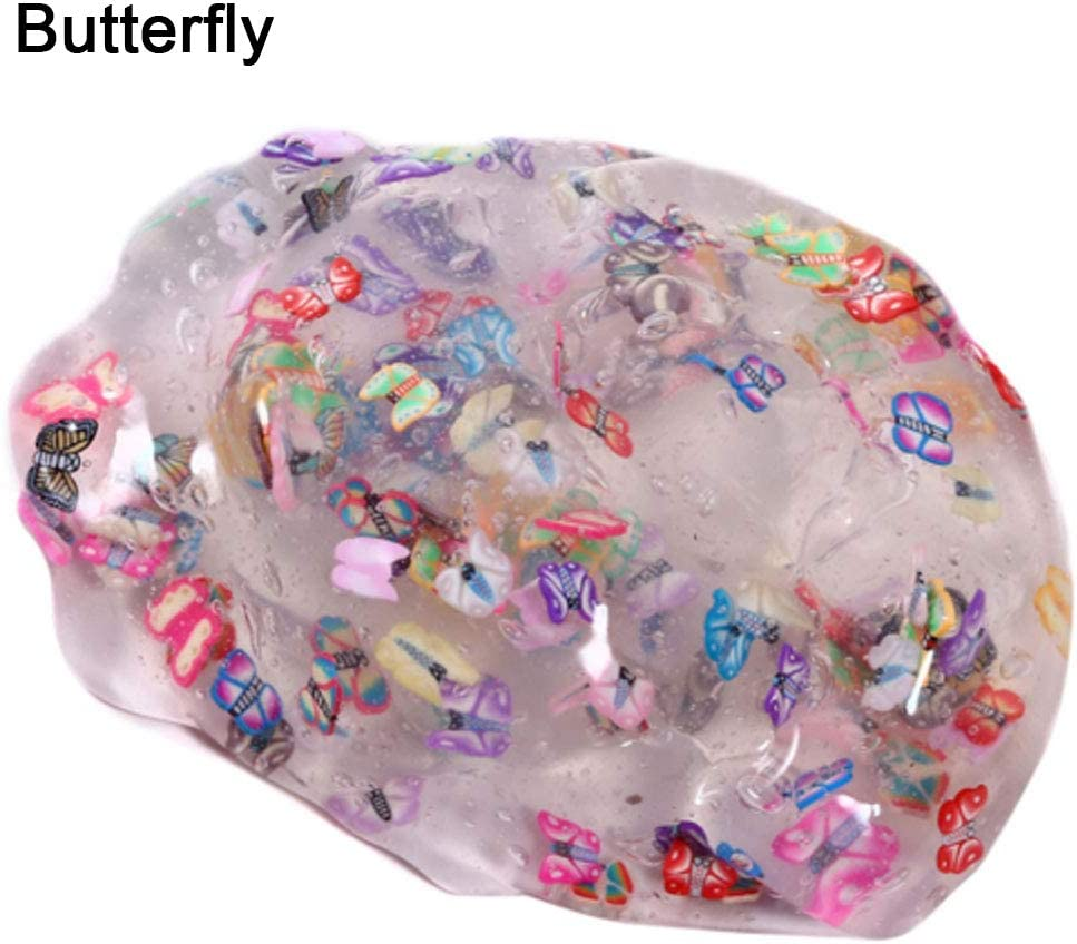 Anniston Kids Toys Cake Clear Fruit Salad Slime Flower Animal Cake DIY Pressure Reliever Non-Sticky Toy Stress Relief Toys for Baby Children Toddlers Boys /& Girls