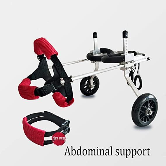 QRFDIAN Discapacitados en silla de ruedas para perros y gatos 瘫痪 silla de ruedas para mascotas automóvil miembro trasero silla de paseo, silla de ruedas ...