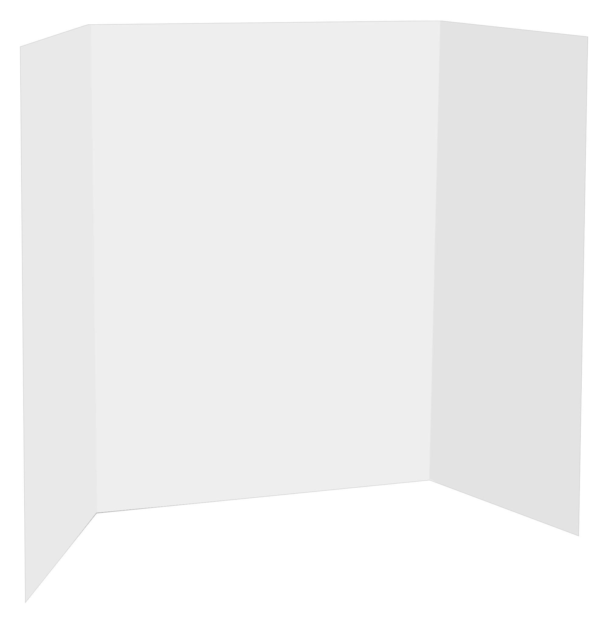 Readi-Board Display Board, 36 x 48'' White/White 18 Count (8001)