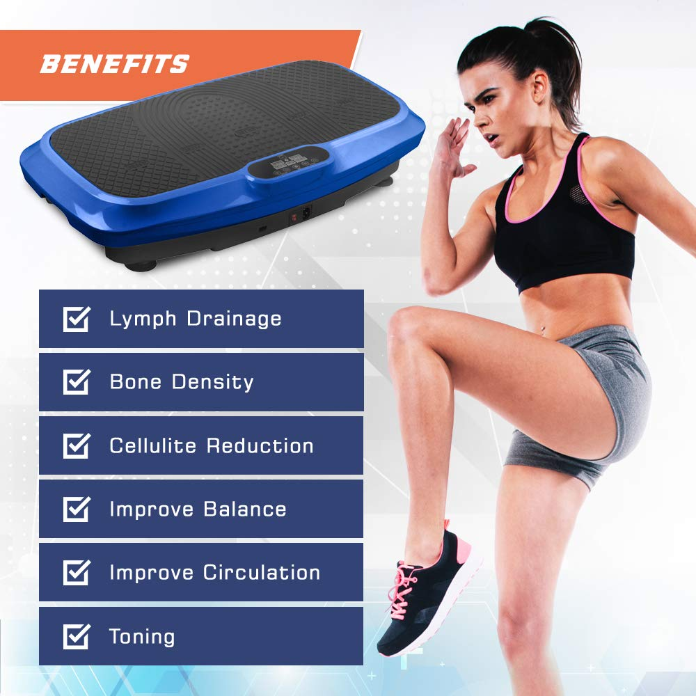 LifePro 3D Vibration Plate Exercise Machine - Dual Motor Oscillation, Pulsation + 3D Motion Vibration Platform   Full Whole Body Vibration Machine for Home Fitness, Weight Loss, Toning & Shaping. by LifePro (Image #7)