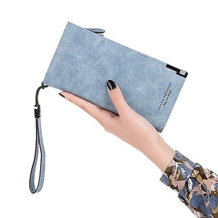 Amazon.com: DZX Womens Wallet/Purses Multi Credit Card ...