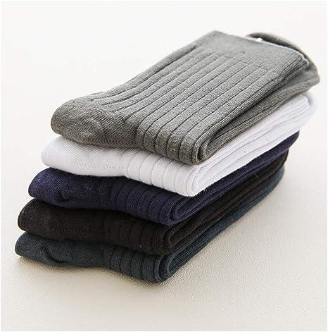 WLL Alto Grado de otoño e Invierno 100% algodón Calcetines de los Hombres Calcetines de algodón en el Cuerpo (10 Pares): Amazon.es: Deportes y aire libre