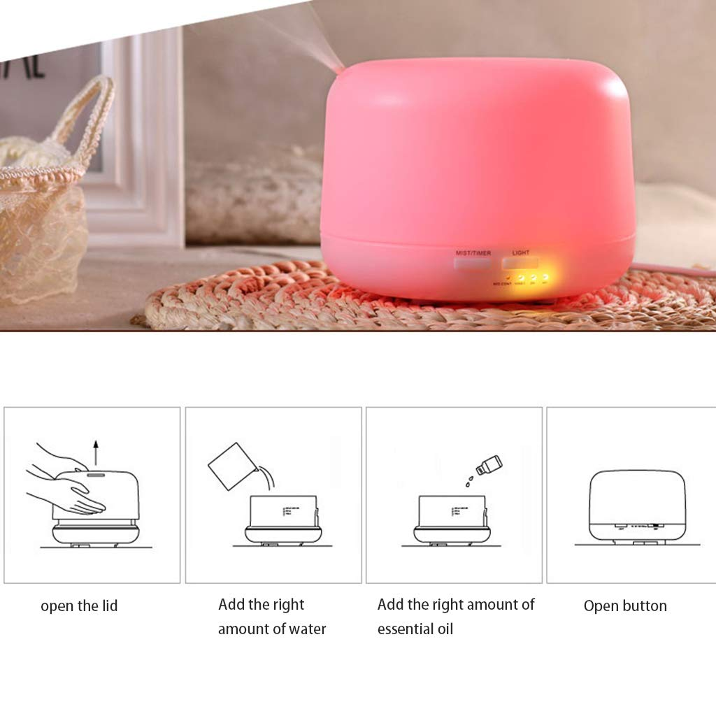 Red cloud Ultrasonic Cool Mist Humidifier - Premium Humidifying Unit with 500ML Water Tank, Whisper-Quiet Operation, Automatic Shut-Off and Night Light Function - Lasts Up to 10 Hours by Red cloud (Image #5)