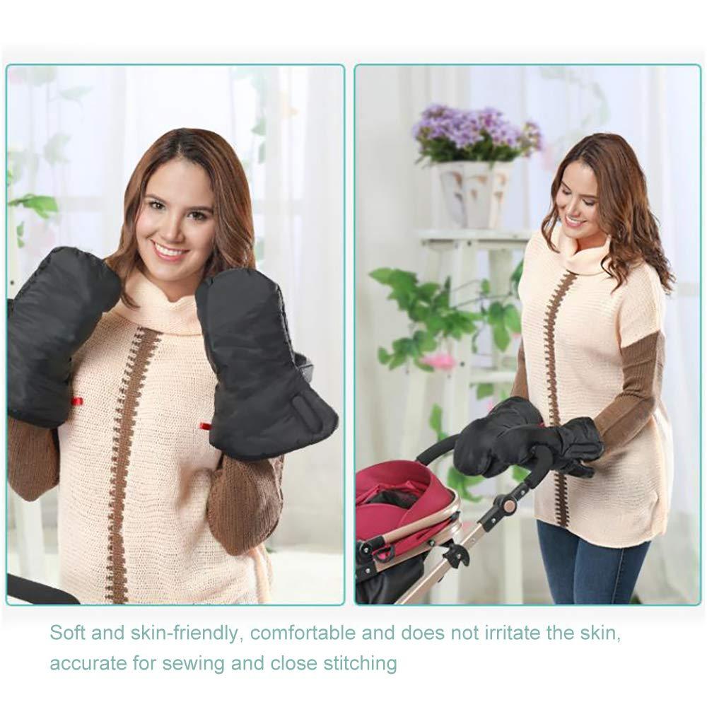 Gris TopHGC TopHGC Manguito de la carriola guantes c/álidos de invierno para el cochecito de beb/é Manguito impermeable para el cochecito de la silla de paseo