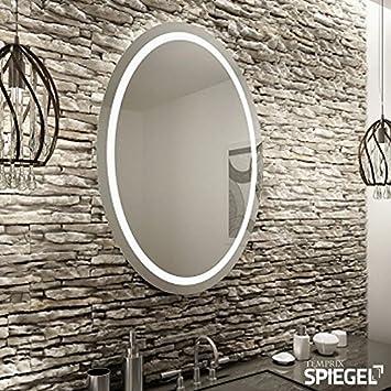 Runder Spiegel LED mit Beleuchtung Badspiegel Wandspiegel rund ... | {Spiegel mit beleuchtung rund 4}