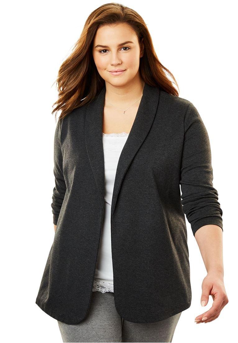 Women's Plus Size 7-Day Knit Jacket