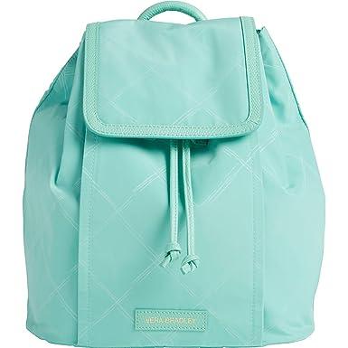 655d3d44a8 Vera Bradley Women s Preppy Poly Backpack Mint Backpack
