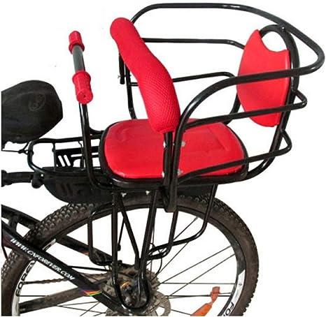 JKNM Asiento Trasero de Bicicleta para niños con reposabrazos y Pedales, portaequipajes de Seguridad Universal, Silla de Bicicleta para niños, Asiento con Asiento: Amazon.es: Deportes y aire libre