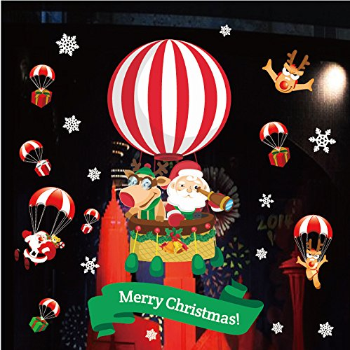 Christmas Decorations Static Stickers Elderly Snowman Mall Glass Window Stickers Christmas Ball Large Christmas Tree Stickers E paragraph