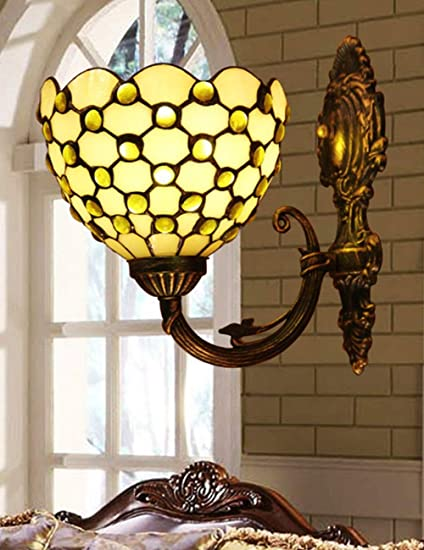ZYear LED Wall Light, Hand Soldering, Stained Glass Shade, Nordic ...