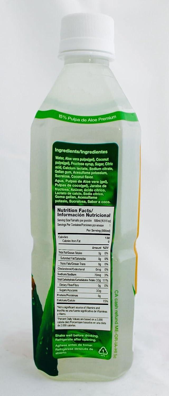 Amazon.com : Viloe Aloe Drink, Coconut, 16.9 Fluid Ounce (Pack of 24) : Grocery & Gourmet Food