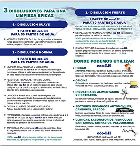 eco-LH1 DESENGRASANTE HIGINIZANTE Concentrado Neutro 1X15: Amazon ...