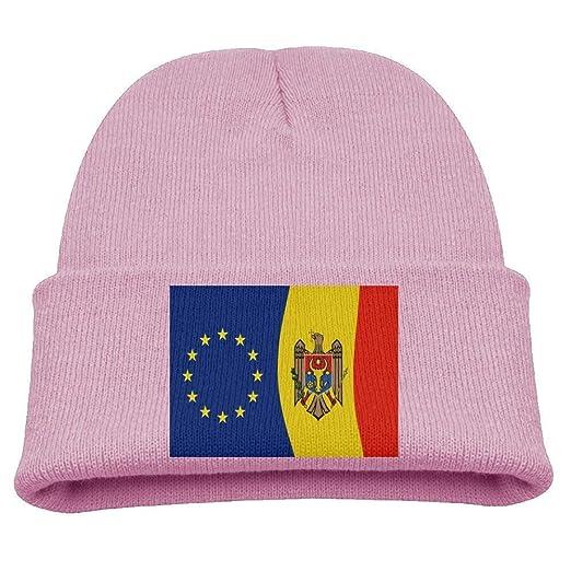 0710a340da403 Amazon.com  Jay94 Moldovan and The European Union Flag Kid s Hats ...