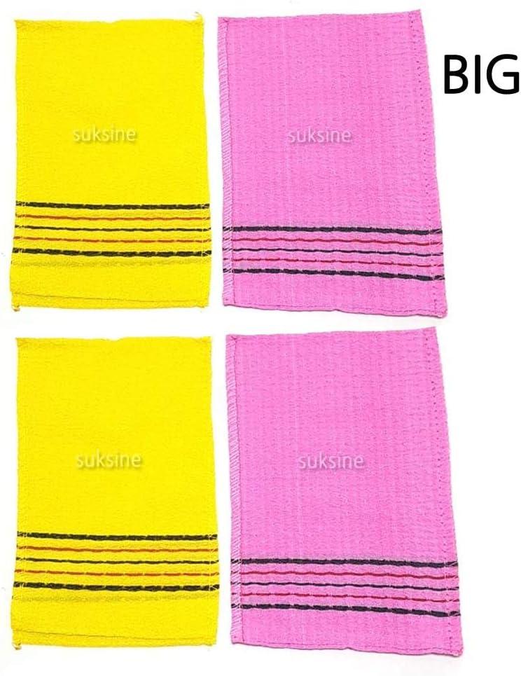Korean Italy Towel Exfoliating Bath Washcloth 4 Pcs Green Happy Italy Towel