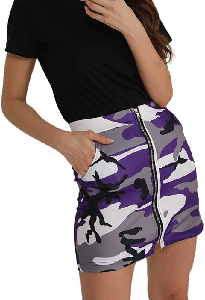Briskorry-Vestido Faldas de Camuflaje Cadera Falda de Señoras ...