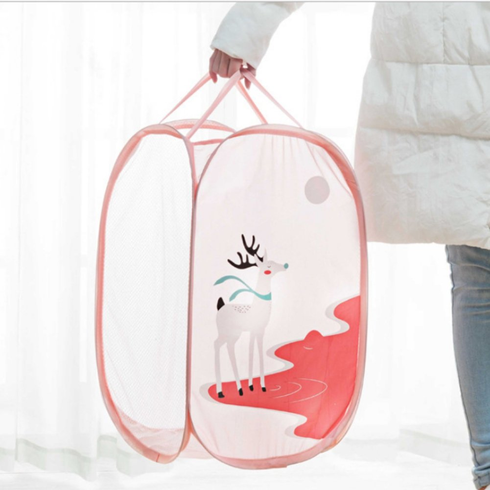 Smartcoco Pop-Up Laundry Hamper Foldable Dirty Clothes Storage Basket Toys Shoes Sundries Storage Organizer