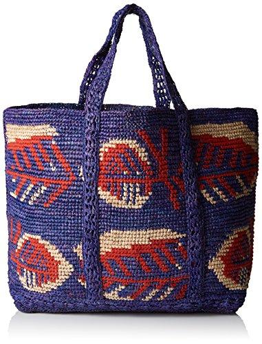 Cabas Women's 703 Multico Vanessa Bruno bleu Raphia Medium Bag Blue 7E4q4xOw