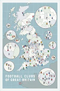 Rixart Football Clubs of Great Britain Poster Art Prints Wall Decor Photo Paper Material 36'' 47'' (24x36 inches)
