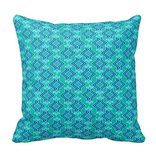 Art Deco Wallpaper Pattern Turquoise And Cobalt Pillow Case Cobalt Wallpaper