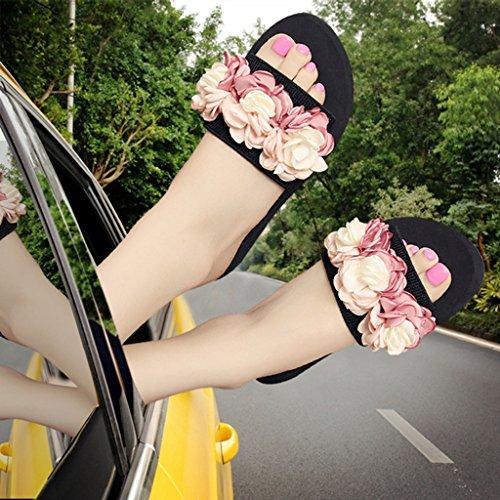 prape Flop 6CM Fleur Pantoufle Anti Nouveau Le Flip pink Slip rZqwr0
