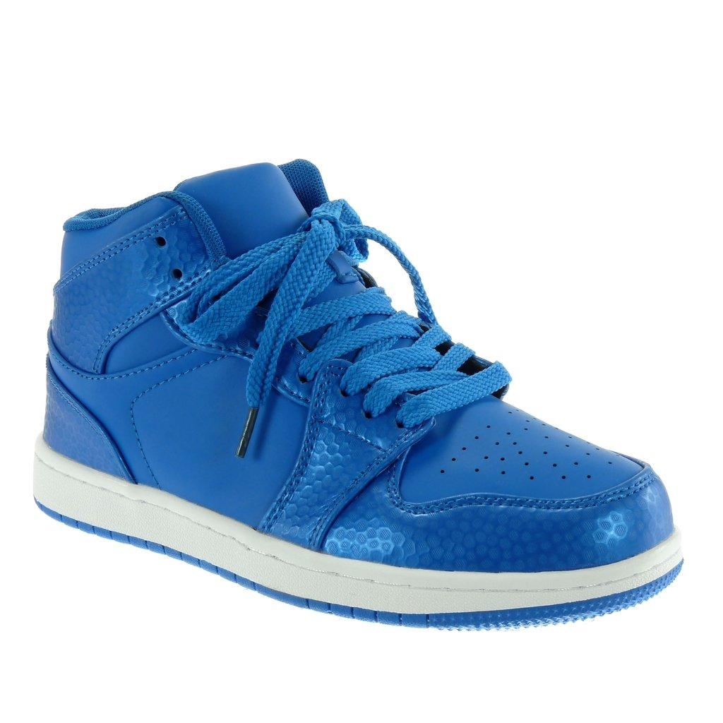 en présentant la vente de chaussures 100% qualité garantie Angkorly Chaussure Mode Baskets Tennis Montante Femme Peau ...