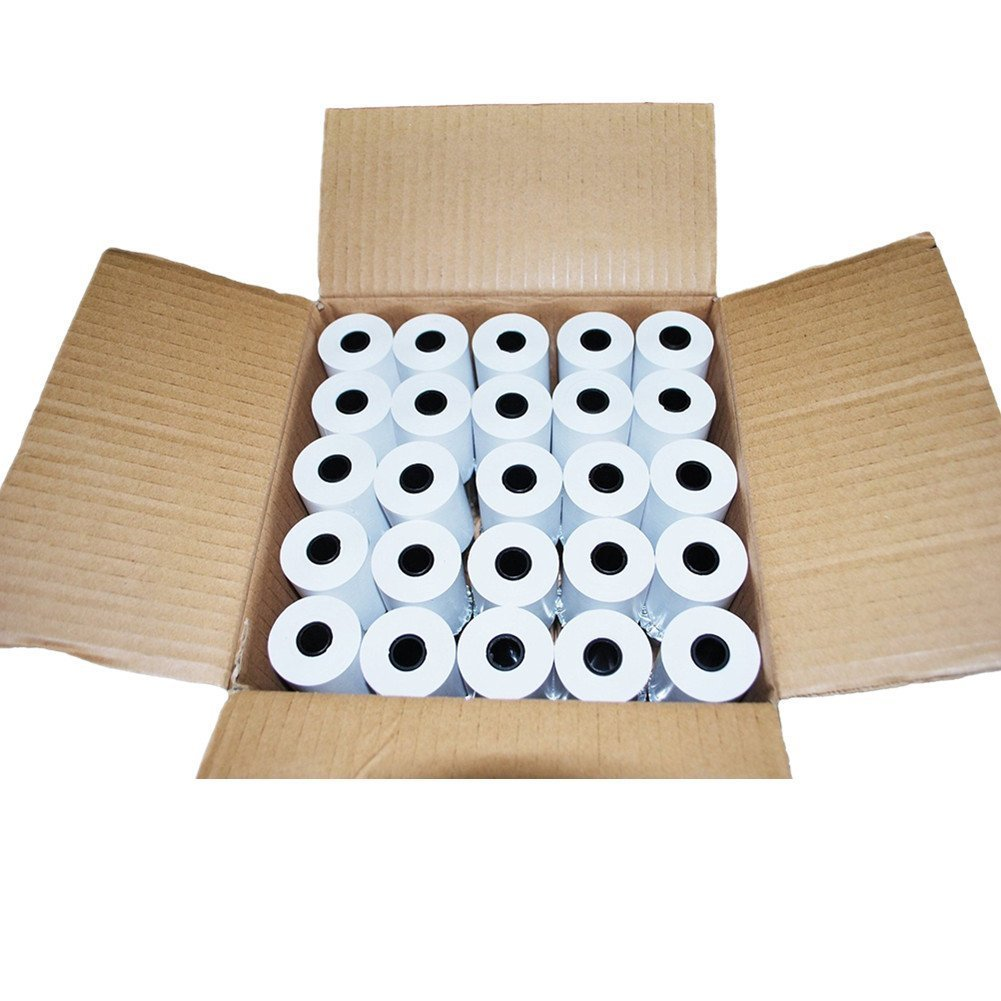 RBHK 2 1/4 x 50' Thermal Receipt Paper, Cash Register POS Paper Roll, 50 Rolls Total