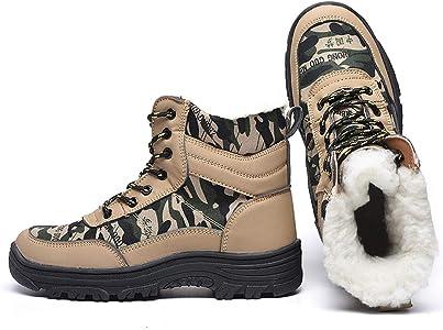 Botas con puntera de acero botas de nieve impermeabilizantes
