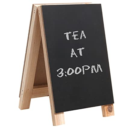 Attrayant 8 Inch Decorative Freestanding Tabletop Wooden Easel Chalkboard Display Sign,  Message Board