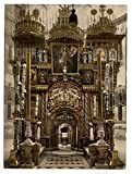 The interior of the Holy Sepulchre, Jerusalem, Holy Land