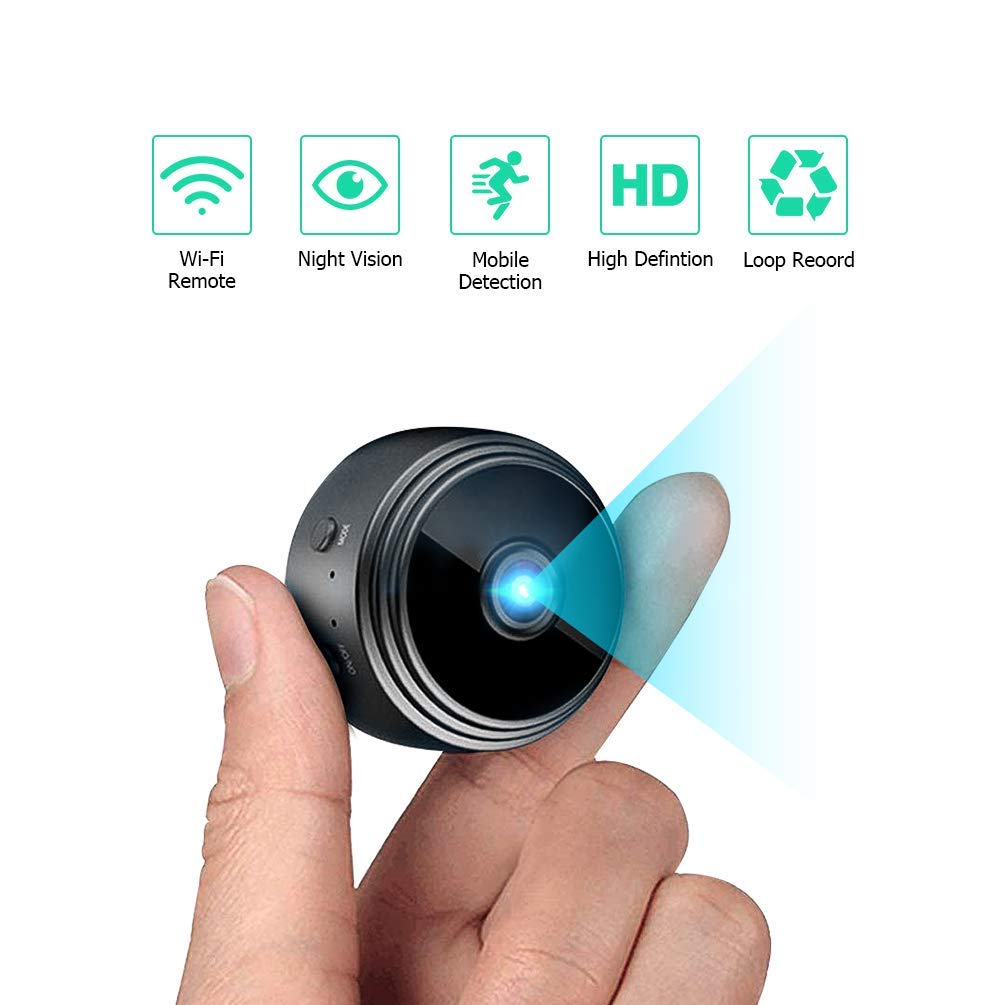 Spy Camera Wireless Hidden WiFi Camera, HD 1080P Mini Camera Home Security Nanny Cameras 150 Angle Cameras with WiFi Night Vision Motion Detection