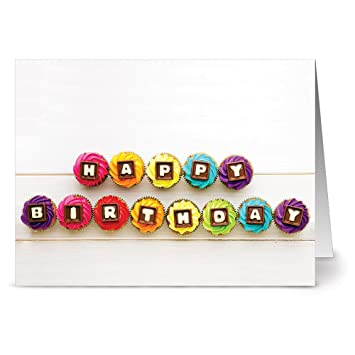 24 Birthday Note Cards Colorful Birthday Wishes Blank Cards