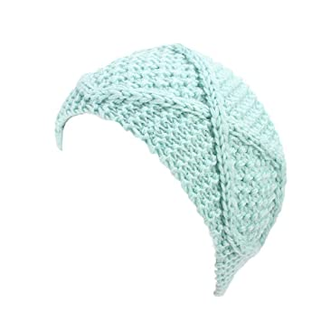 Amazon.com : Turban Elastic Knitting Headband for Women Winter Warm Head Wrap Wide Hair Accessories Sunmoot : Beauty