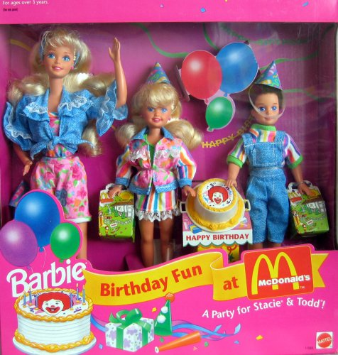 Barbie Birthday Fun at McDonald's Gift Set A Party For Stacie & Todd! (1993)