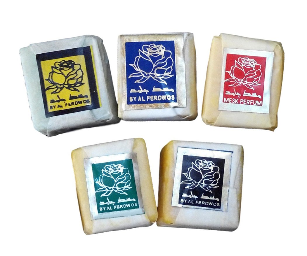 5 Scents Of Musk Jamid Natural Organic Solid Islamic Arabic Perfume None Alcohol Saudi Arabia