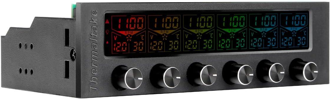 Thermaltake Commander F6 - Ventilador para Caja de Ordenador, Color Negro