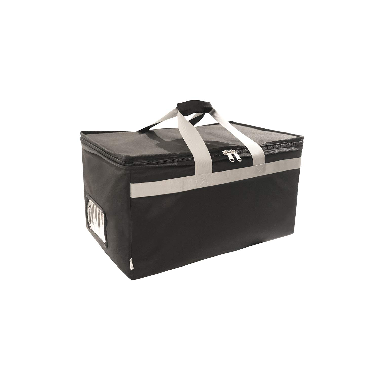 "Insulated Food Delivery Bag Carrier, 18""x12""x10"", Waterproof and Leakproof Interior, Uber Eats Doordash Restaurant Catering"