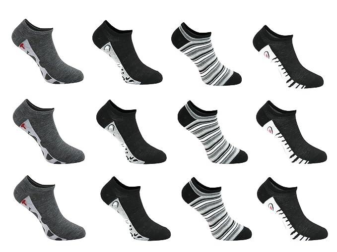 Topgoods2016 12 Pares Calcetines Tobilleros Mujer algodon,Talla 35-40, Cortos Invisible Sneaker
