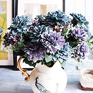 Handfly 10 pcs Artificial Flowers Fake Flowers Gerbera Daisy Flowers Marigold Bouquet for Home Garden Office Wedding Decor 38