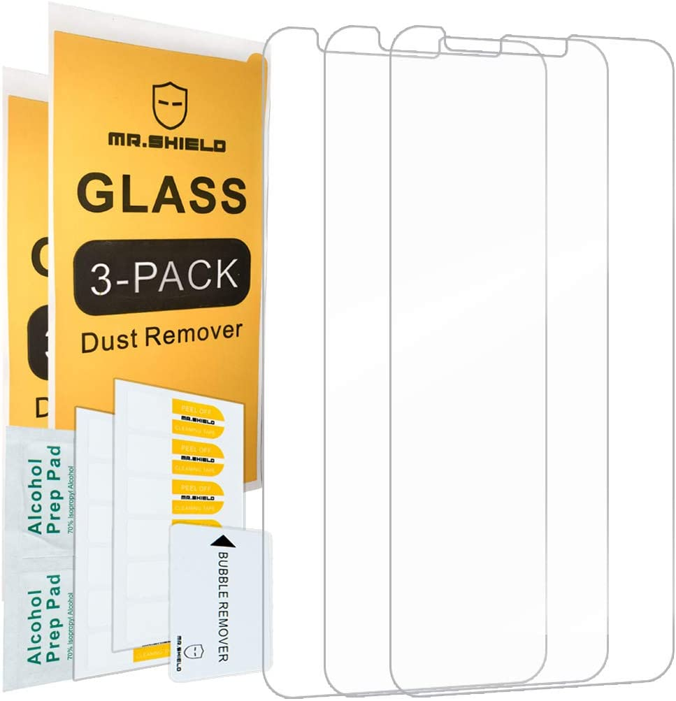 Mr.Shield For Motorola (Moto E6) [Tempered Glass] [3-PACK] Screen Protector with Lifetime Replacement
