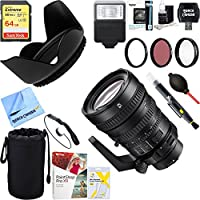 Sony (SELP28135G) 28-135mm FE PZ F4 G OSS Full-frame E-mount Power Zoom Lens + 64GB Ultimate Filter & Flash Photography Bundle