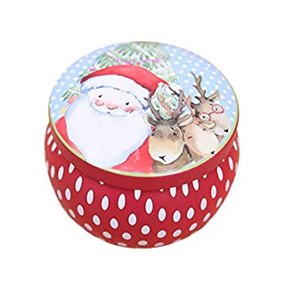 Valcano Cute Christmas Tin-Plate Gift Box Candy Container Organizer Xmas Tree Ornament