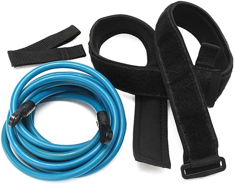 lzndeal Niños Adultos 4m Natación Bungee Exerciser Leash Cord Cuerda de Entrenamiento Hip Swim Belt Safety Pool